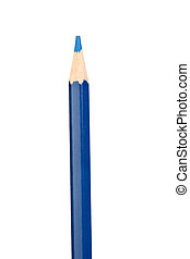 Dark blue pencil vertically isolated on white background