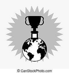 trophy cup on top of the world icon