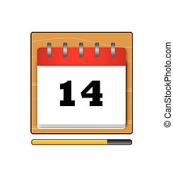 Fourteenth day in the calendar vector