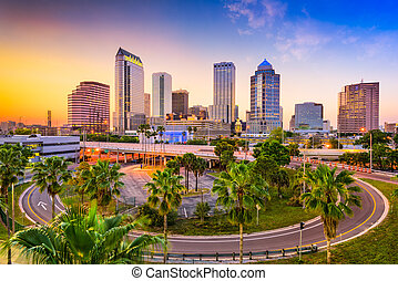Tampa Florida Skyline - Tampa, Florida, USA downtown...