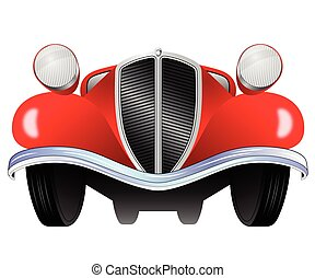 Vintage model of the car - Old vintage model of the car from...