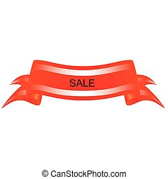 Red banner on a white background