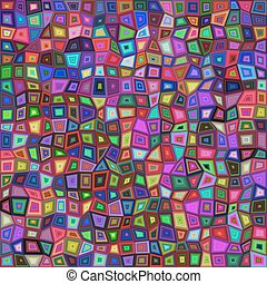 Abstract irregular rectangle mosaic background - Abstract...