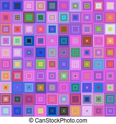 Multicolored square mosaic vector background