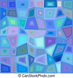 Blue colorful rectangle mosaic background - Blue colorful...