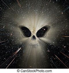 Universe alien threats - Conceptual image about the universe...