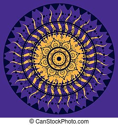 Mandala. Indian decorative pattern. Vector illustration.