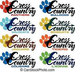 cross country - collection of cross country team designs...