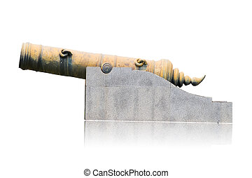 old Cannon isolated on white background