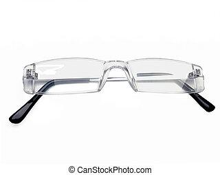 Pair of rimless eye glasses, reading glasses, eyeglass...