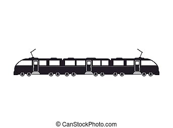 train rail transport vehicle - modern electric train rail...