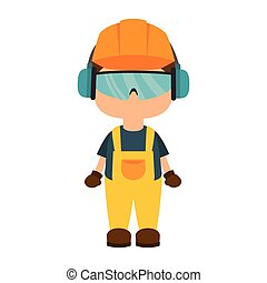 worker wearing industrial security equipment - avatar worker...
