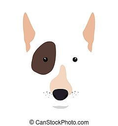bull terrier dog cartoon - bull terrier breed dog canine pet...