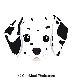 dalmatian dog cartoon - dalmatian breed dog canine pet...