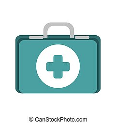first aid kit suitcase healthcare equipment vector...