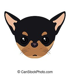 pinscher dog cartoon - pinscher dog breed canine pet animal....