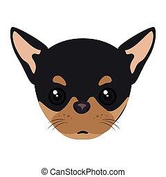 pinscher dog cartoon - pinscher dog breed canine pet animal....