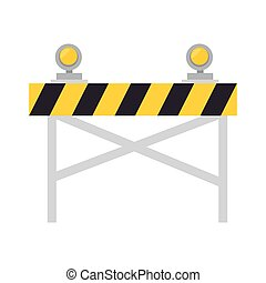 road warning barrier - road barrier with lights warning...