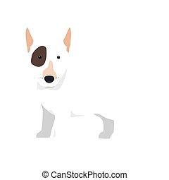bull terrier dog cartoon