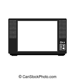microwave oven silhouette - Microwave oven. Kitchen electric...