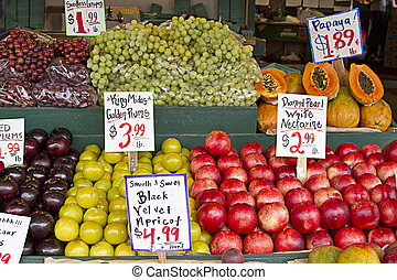Fresh Fruits Stand at Pike Place Public Market