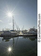 Marina Boat Dock 4 - Marina Boat Dock with Clear Blue Sky...