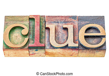 clue word abstract - clue - isolated word abstract in...