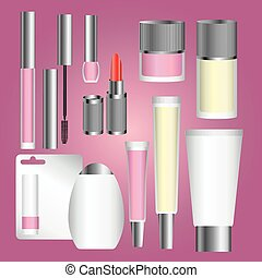 silver cosmetic packages