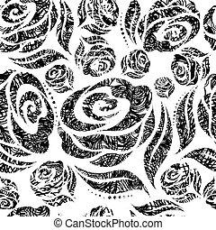 grunge rose pattern