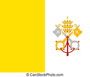Flag of Vatican City - Illustration of the national flag of...