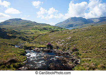 Stream in Connemara - A stream in Connemara, Co. Galway,...