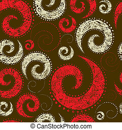 Seamless abstract twirl pattern