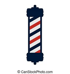classic barber shop pole - red and blue striped classic...