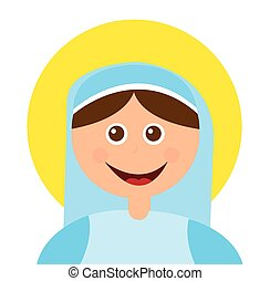 virgin mary manger character vector illustration design