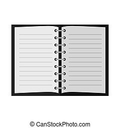 open notebook pages