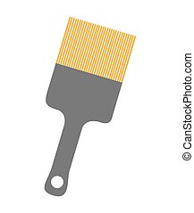 brush paint device isolated icon vector illustration design