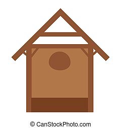 manger stable home isolated vector illustration design