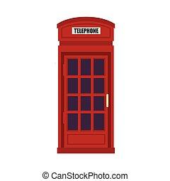 british telephone cabin - red british telephone cabin....