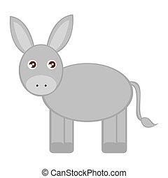animal manger character isolated vector illustration design