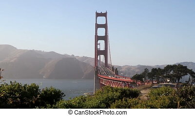 Golden Gate Bridge shot four - California Golden Gate Bridge...