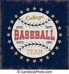 Baseball Colored Print