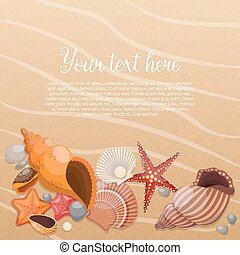 Starfishes On Sand Poster