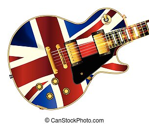 Union Jack Flag Guitar - The definitive rock and roll guitar...
