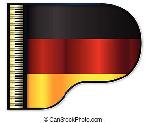 Grand Piano Germany Flag - The German flag set into a...