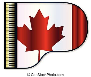 Grand Piano Canadian Flag - The Canadian flag set into a...