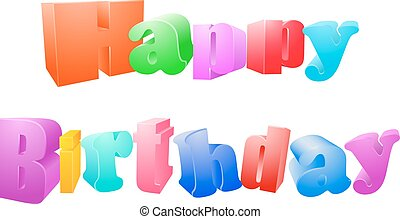 Happy birthday isolated on white background - Vector...