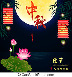 Mid Autumn Festival Background Translation The Mid-Autumn...