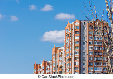 Modern residential building in a big city