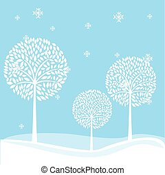 winter landscape field isolated vector illustration design