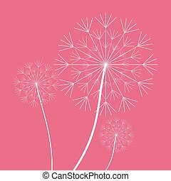 White Dandelion plant design - White dandelion icon. Summer...